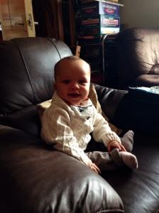 Reuben in my armchair