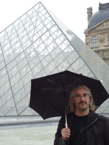Rob in Paris at Louvre.