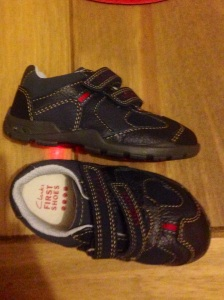 Reuben's new shoes that light up as he walks.