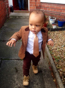 My youngest grandson, smart boy. Gets more like his pops every day. lol