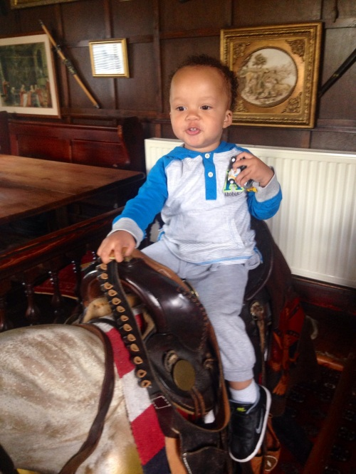 Reuben on Buffalo Bil's Saddle from his Wild West Show.