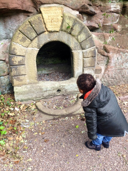 What looks like an oven is I think a Hermit's Cave but I need to verify that.