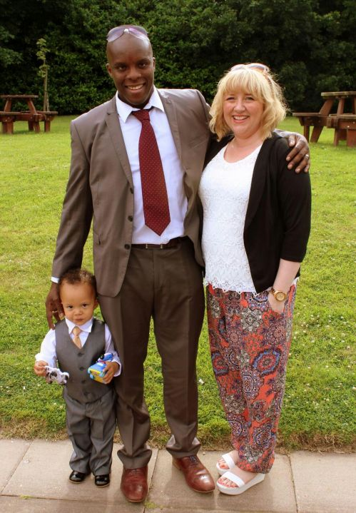 The Family. Reuben, Ugo and Yvonne.