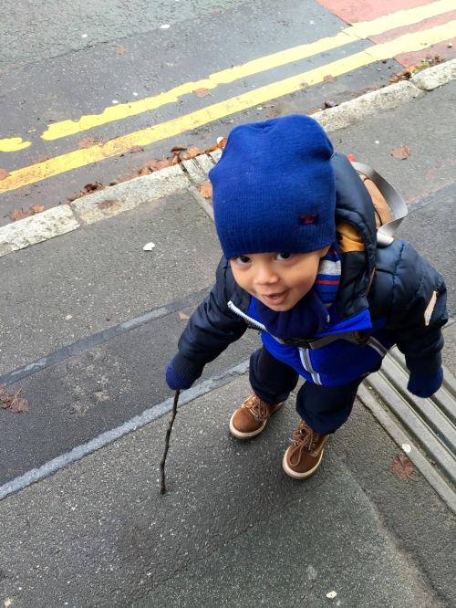 Reuben copying how Pops walks......
