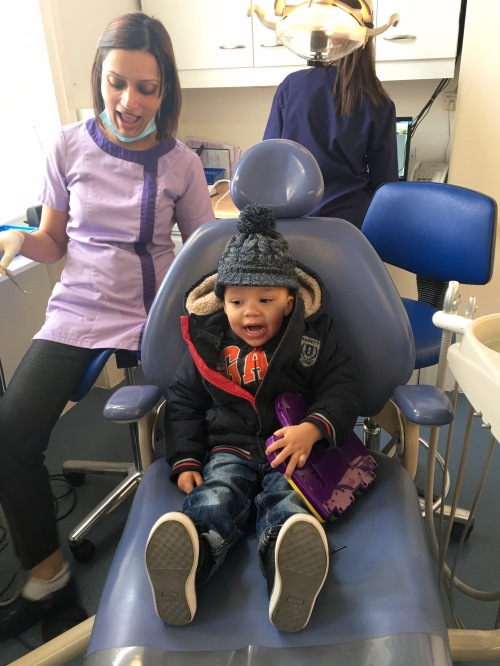 First trip to the dentist. Where's the FEAR?