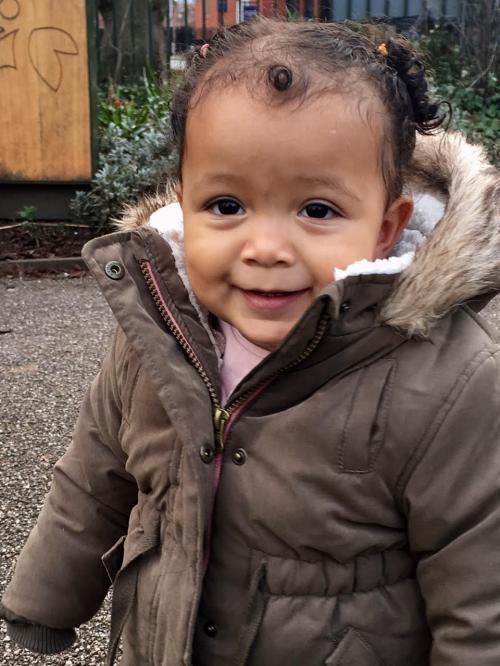 Ami smiling